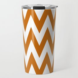 Team Spirit Chevron Burnt Orange and White Travel Mug