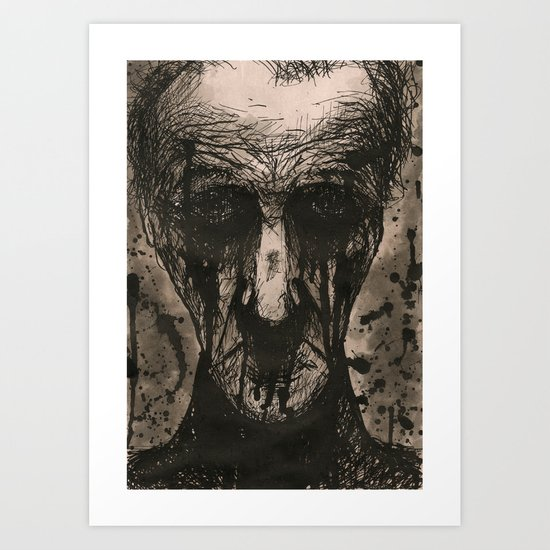 Ink Face Art Print