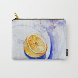 Lemon on a plate - Watercolors Carry-All Pouch