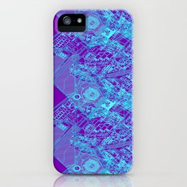 Superpose Map Two iPhone Case