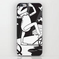 kermit iPhone & iPod Skins featuring Communist Kermit by Jada McGill