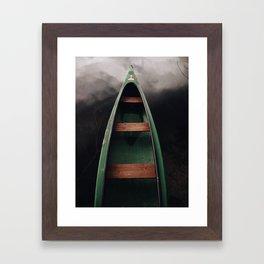 Storm under boat Framed Art Print