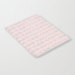 Contemporary Pink and Mint Arrow Pattern Notebook