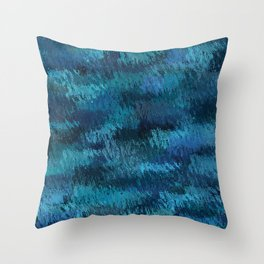 Blue Ice Abstract Art Throw Pillow