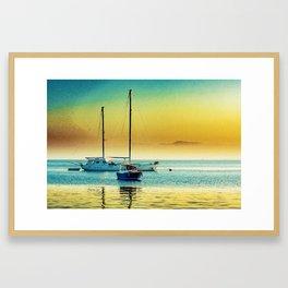 Istanbul Marina Sunset Framed Art Print
