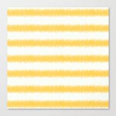 Ikat Stripe Yellow Canvas Print