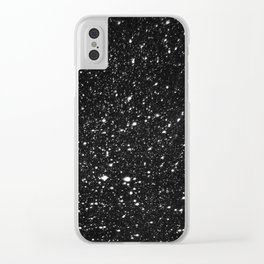 Snowflakes In the Night Clear iPhone Case