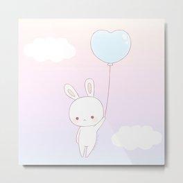Flying bunny Metal Print