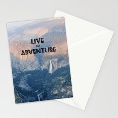 Live for Adventure  Stationery Cards