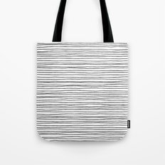 Lines White Tote Bag