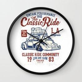 The Classic Ride L.A. California Wall Clock