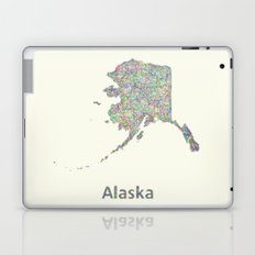 Alaska map Laptop & iPad Skin