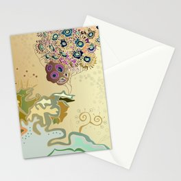 Beige reef Stationery Cards
