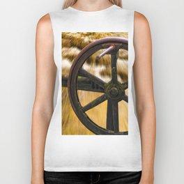 old locks wheel Biker Tank