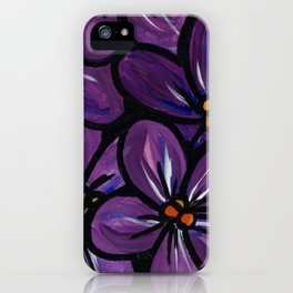 Violet Joy iPhone Case