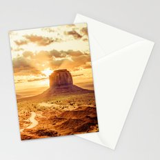 Nature Dawn - Monument Valley Navajo Tribal Park Arizona Stationery Cards