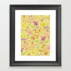 Oriental Blooms Framed Art Print