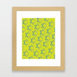 Jewish Stars Framed Art Print