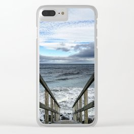 A Way to the Sea Clear iPhone Case