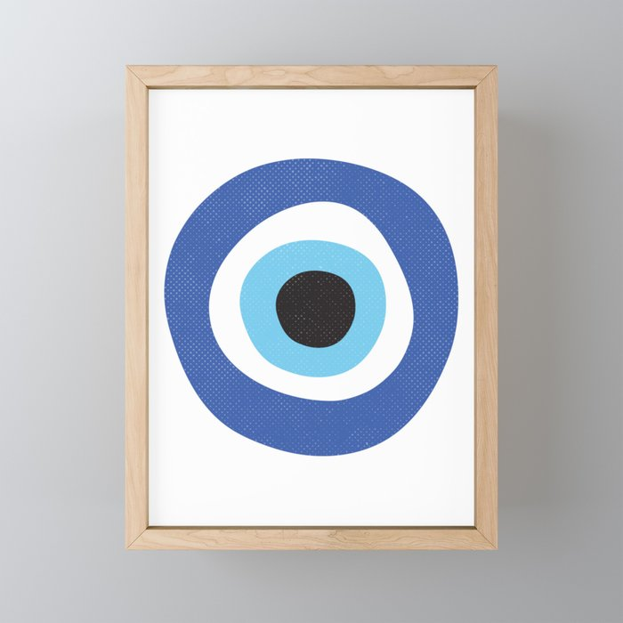 Evi Eye Symbol Framed Mini Art Print