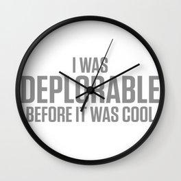 BEFORE IT Wall Clock