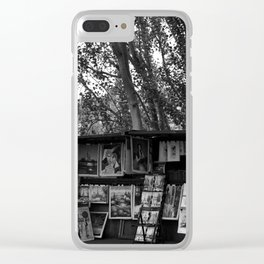 Paris Book Vendors 7bw Clear iPhone Case