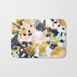 Sloane - abstract painting gender neutral baby nursery dorm college decor Bath Mat