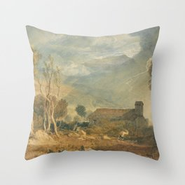 """J.M.W. Turner """"Ingleborough From Chapel Le Dale"""" Throw Pillow"""