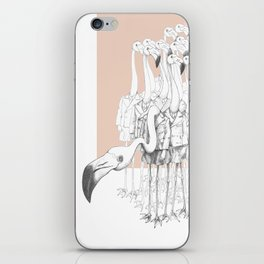 Weird & Wonderful: Flamingo Boys iPhone Skin