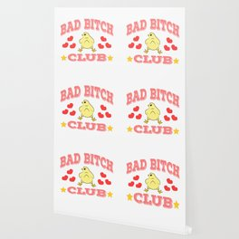 """Stay naughty but cute with this wonderful tee with text """"Bad Bitch Club"""" Wallpaper"""