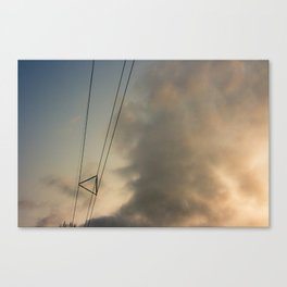 Keeping the wires together Canvas Print
