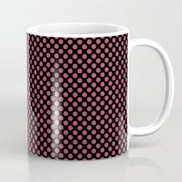 Black and Hippie Pink Polka Dots Coffee Mug