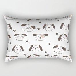 Dogs Face Rectangular Pillow