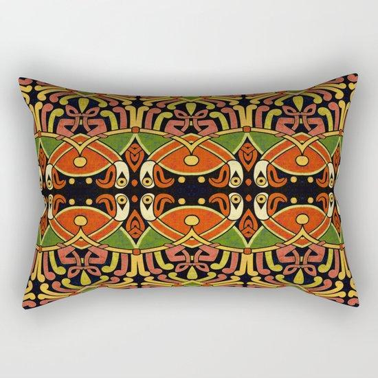 Celtic Animal Symbol Rectangular Pillow
