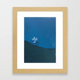 Look, No Hands! Framed Art Print