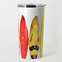 Surf Boards Painting Travel Mug