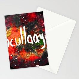 Scullayyy Red & Orange Nebula Stationery Cards