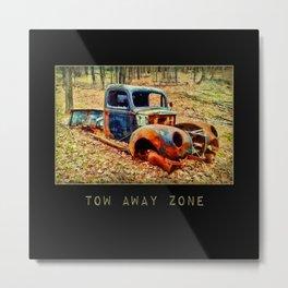 Tow Away Zone ~ Vintage Truck ~ Ginkelmier Inspired Metal Print