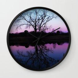purple dawn I Wall Clock