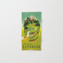 Vintage poster - Austria Hand & Bath Towel