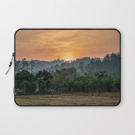 Sunset Jungle // South American Orange Sky Forest View from the Farm Valley Along the Countryside Laptop Sleeve