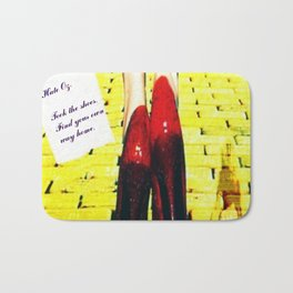 """""""Took the Shoes"""" by surrealpete Bath Mat"""