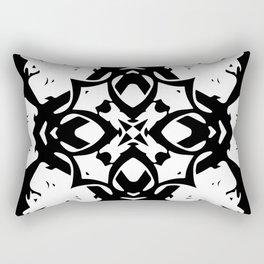 Callisto IV (White) Rectangular Pillow