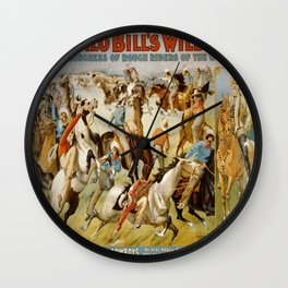 Vintage poster - Wild West Show Wall Clock