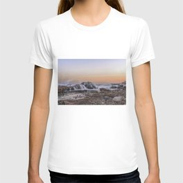 Waves on the rocks at the Backshore T-shirt