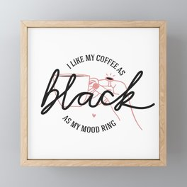 coffee rules I Framed Mini Art Print