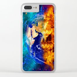 GLOBAL WARMING Clear iPhone Case