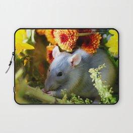 Sweet Floral Rat Laptop Sleeve