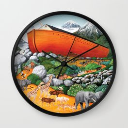 A New Beginning (Noah's Ark) Wall Clock