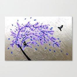 purple and gray art Canvas Print